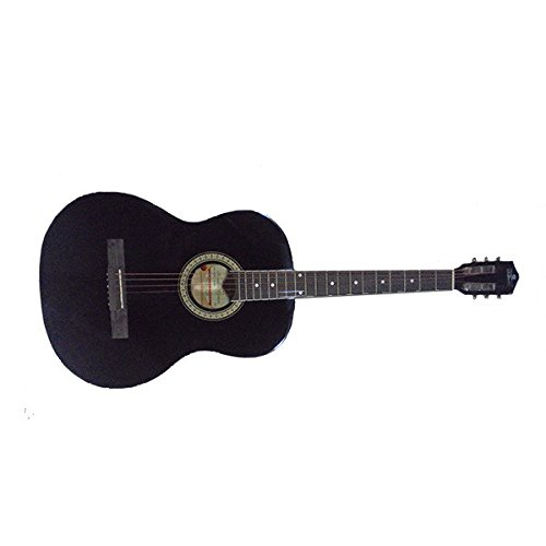 Pluto HW39-201 Acoustic Guitar, Black