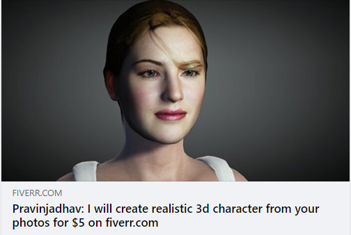 Fiverr gig - 3d character from your photo