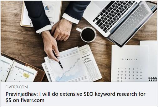 Fiverr gig - seo keyword research