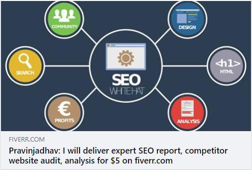 Fiverr gig - seo report competitor website audit