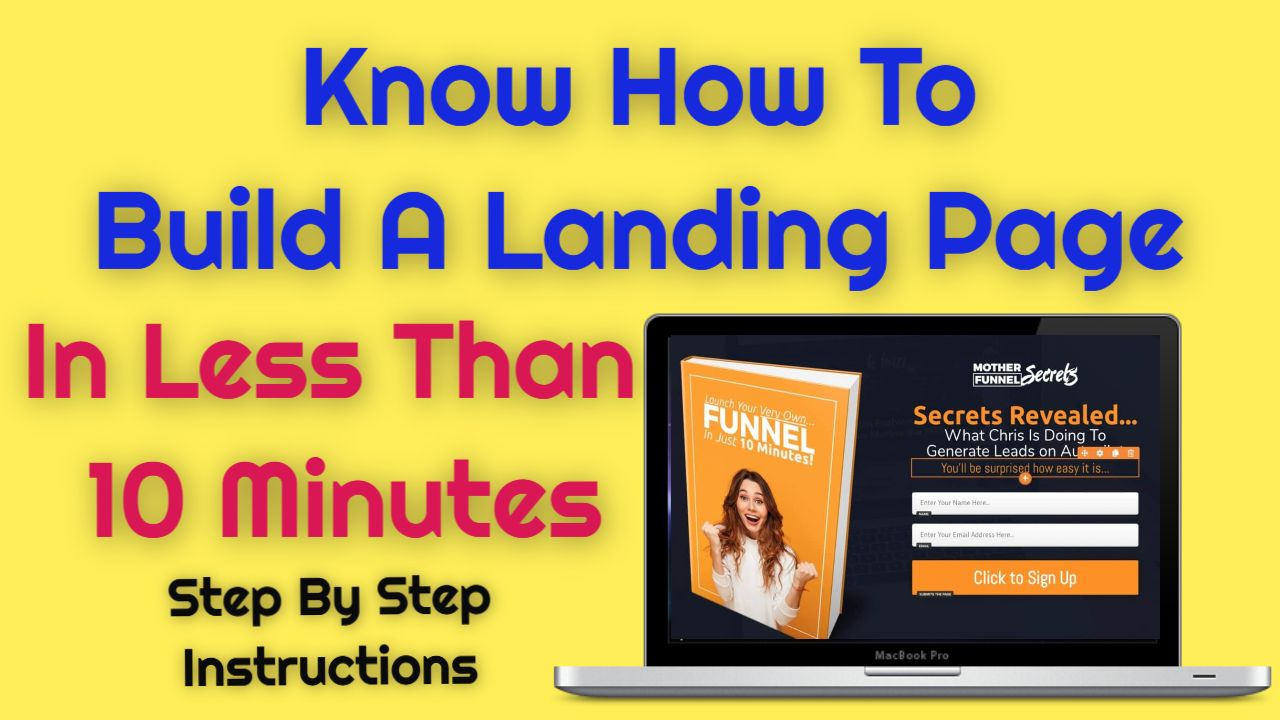 Know how To Build A Landing Page In Less Than 10 Minutes